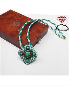 buy-sell handmade jewelry گردنبند فیروزه تبتی