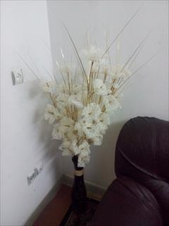 buy-sell handmade decorative-flowers ساخت انواع گل توری شاخه ای و گلدانی