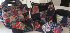 buy-sell handmade wearable-knitting کیف دست دوز چهل تیکه پارچه ای