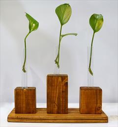 buy-sell handmade home-decoration گلدان چوبی رومیزی