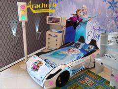 buy-sell home-kitchen furniture-bedroom تخت خواب ماشینی و سرویس خواب دخترانه السا و آنا