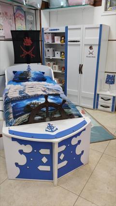 buy-sell home-kitchen furniture-bedroom تخت خواب پسرانه کشتی کاراییب برند آراچوب