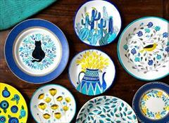 buy-sell handmade pottery ست بشقاب دیوارکوب تزیینی