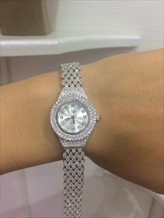 buy-sell personal watches-jewelry زیورآلات نقره الماسین:انگشتر،گردنبند،گوشواره،دستبن