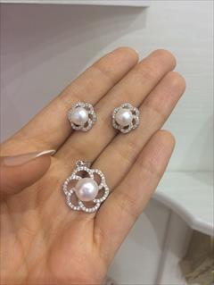 buy-sell antiques old-jewelry نیم ست های نقره مروارید الماسین