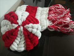 buy-sell handmade wearable-knitting شال گردن وکلاه پفکی
