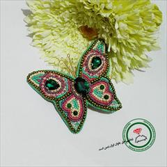 buy-sell handmade jewelry گل سینه پروانه فاخر