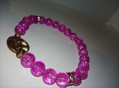 buy-sell handmade jewelry دستبند سنگ گلس یخی