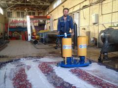 industry machinary machinary دستگاه قالیشور دستی دو برسه+ماشین الات قالیشویی