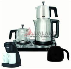 buy-sell home-kitchen kitchen-appliances چای ساز با سه قوری به همراه قهوه جوش ژانومه Janome