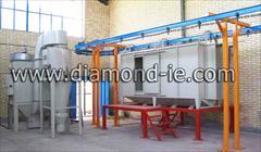 industry industrial-machinery industrial-machinery قیمت و فروش کوره رنگ پودری با دستگاه پاشش رنگ