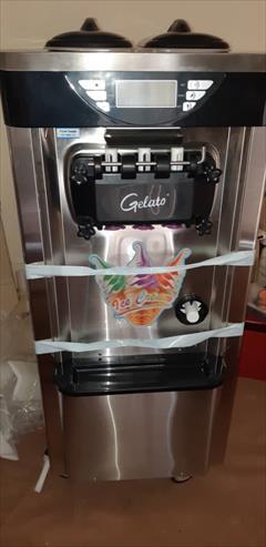 industry food food  دستگاه بستنی قیفی ژلاتو کره ایی