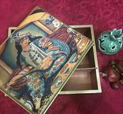buy-sell handmade pottery جعبه های چوبی