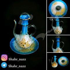 buy-sell handmade other-handmade فروش گل اب پاش شیشه ای فیروزه ای