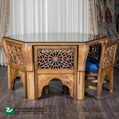 buy-sell home-kitchen table-chairs میز و صندلی ناهار,غذا خوری صنایع چوب ساج مدل ۳۲۸