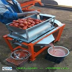 <br/>دستگاه آب گوجه گیری دستگاهی مناسب برای آب گیری گوجه جهت رب گوجه ، آب لیمو ، آب انگور ، آب غوره ، آب آلوزرد برای لواشک و آب انار دانه شده  و آب سیب با industry industrial-machinery industrial-machinery