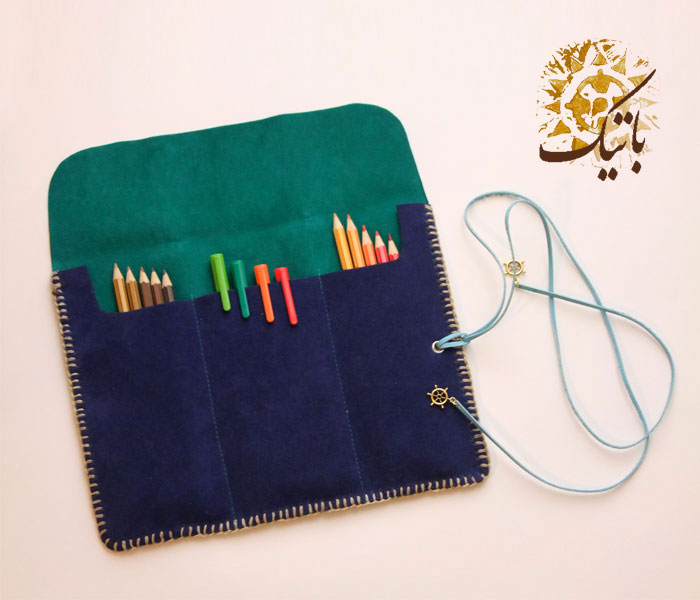 جامدادی دست ساز اشبالت سبز آبی (تعداد محدود)<br/>برای سفارش کالا لطفا از طریق ایمیل مشخصات و تعداد کالای مورد نظر را برای من ارسال کنید.<br/>mail.batik@yahoo. buy-sell handmade handmade-personal