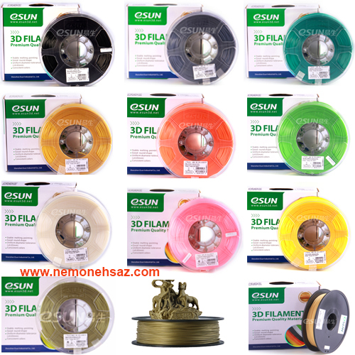 نمایندگی فیلامنت ESUN در ایران :<br/>فیلامنت چوب 1.75 میلی متری مارک eSun<br/>ماده:WOOD<br/><br/>رنگ: معمولی<br/><br/>تلورانس:0.03 mm<br/><br/>وزن خالص: نیم کیلوگرم<br/><br/>قطر:mm 1.75<br/><br/>دما digital-appliances printer-scanner printer-scanner