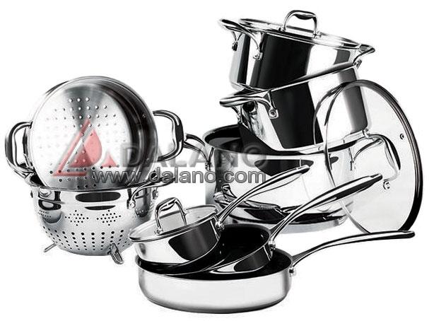 مشخصات <br/><br/>سرویس قابلمه 12 پارچه تمام استیل <br/>قطر استیل 8 میلییمتری ضد زنگ<br/>سرویس شامل:<br/>قابلمه اندازه 28 سانتی متری با درب<br/>قابلمه اندازه 24 سانتی متری با  buy-sell home-kitchen dishes
