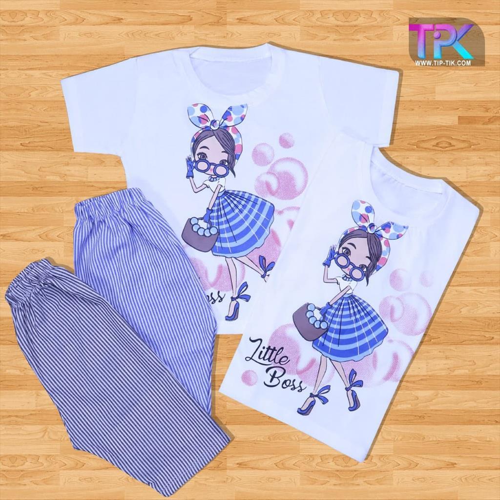 تیشرت شلوارک دخترانه راه راه<br/>لباس بچگانه<br/>جنس: پنبه 🧵<br/>رنگبندی : (مشکی،آبی) 🎨<br/>سایز: 35-40-45-50<br/>کد محصول: 546753<br/>✅قیمت یک عدد در یک جین : 50500 ✅<br/>✅قیم buy-sell personal clothing