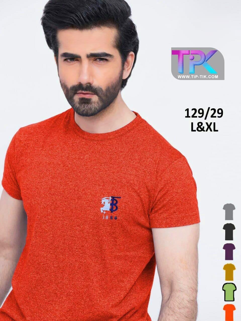 تیشرت تک مردانه<br/>جنس: #اسپرت<br/>قیمت:#80000<br/>سایز:#L&XL<br/>کد: #129/29<br/>رنگ بندی:#6_رنگ<br/>قیمت یک جین12تایی:960000 buy-sell personal clothing