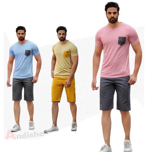 تیشرت شلوارک مردانه -  مدل ریموند  - خاص ترین پوشاک اسپرت و راحتی مردانه و زنانه را با کیفیت عالی ( در طرح و رنگ های متنوع )  و قیمت مناسب از شرکت پوش buy-sell personal clothing